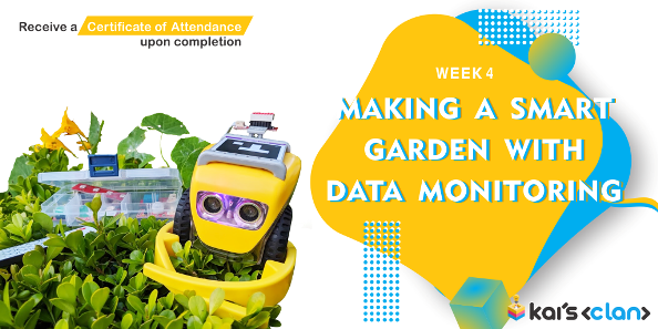 Making a smart garden with data monitoring