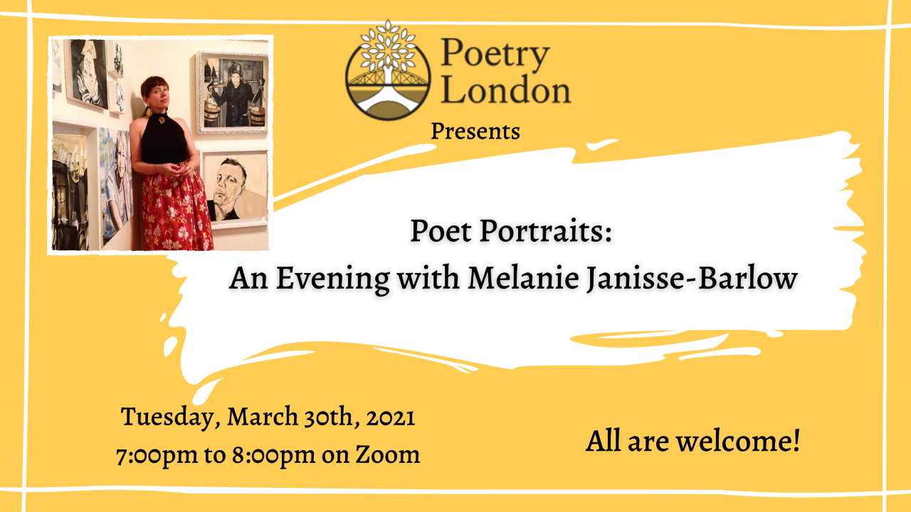 Melanie Janisse-Barlow will speak about her series of poet portraits.