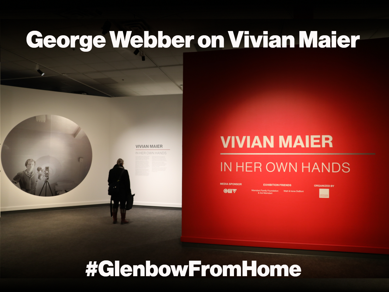 The entrance to the Vivian Maier exhibition at Glenbow