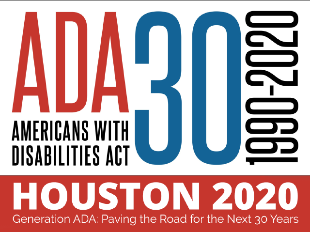 Logo: ADA 30 Act 1990-2020 Americans with Disabilities Celebrate the ADA! July 26, 2020