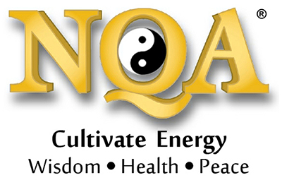 National Qigong Association logo: Cultivate Energy, Wisdom, Health, Peace