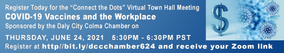 We look forward to discussing the benefits and challenge of COVID-19 Vaccines and the Workplace at the upcoming June 24th Town Hall Virtual Meeting. Our diverse community deserves praise for its diligent at wearing masks, social distancing, and working har
