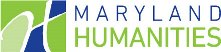 The Maryland Humanities Logo is a stylized letter H in green and blue