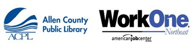 Allen County Public Library Logo and WorkOne Northeast Logo