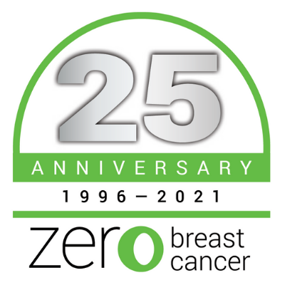 Zero Breast Cancer's 25th Anniversary Logo