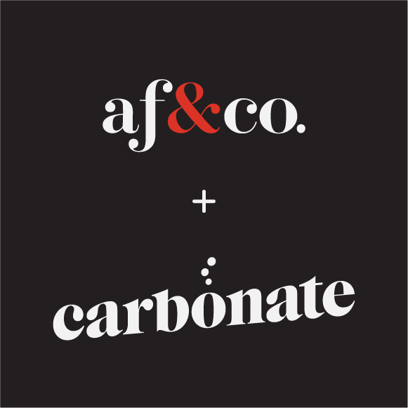 af&co. and Carbonate logos on a black background.
