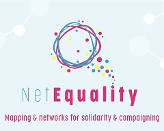 Net Equality logo.Mapping & networks for solidarity & campaigning