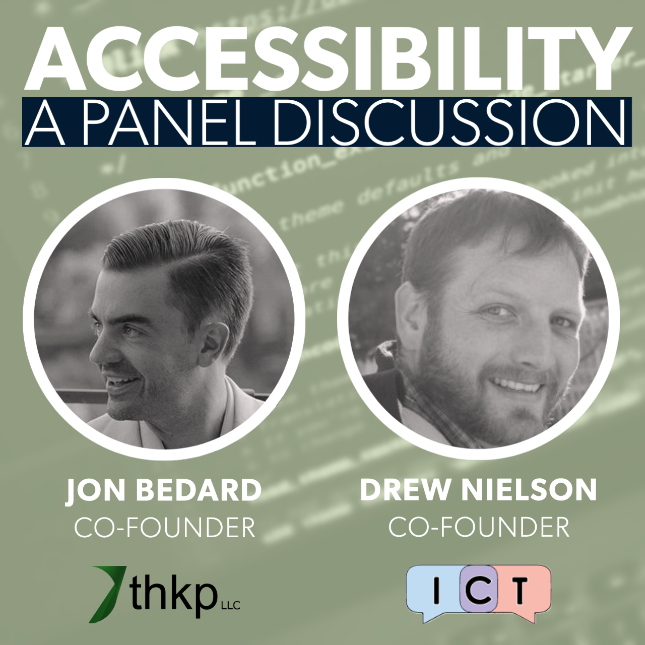 Join our Accessibility Panel Discussion with Jon Bedard and Drew Nielson
