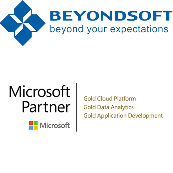 Beyondsoft logo with Microsoft Gold Partner logo